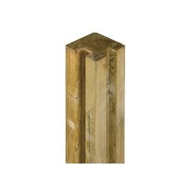 Poteau d'angle pour clôture à emboiter