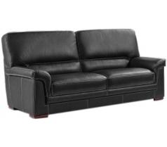 Canapé 3 places en cuir madras noir