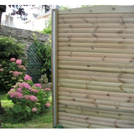 Lame double rondins pour clôture à emboiter Cl4