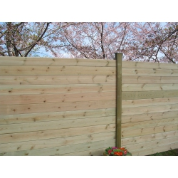 Poteau intermédiaire pour clôture à emboiter