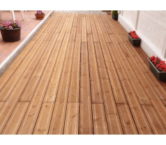 Lame de terrasse brune 28 x 145mm en 3m60