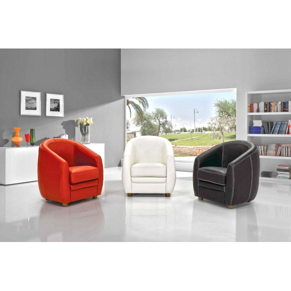 moulin des affaires fauteuil cabriolet en cuir. Black Bedroom Furniture Sets. Home Design Ideas