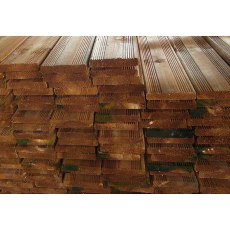 Planche de terrasse brune 19 x 95mm en 2m40