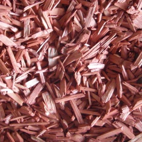 Copeaux de bois rouge