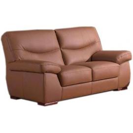 Canapé 2 places en cuir madras