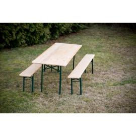 Set de bière : la table + les 2 bancs