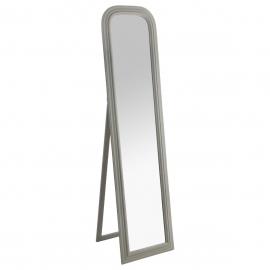 Miroir sur pied cadre pin gris