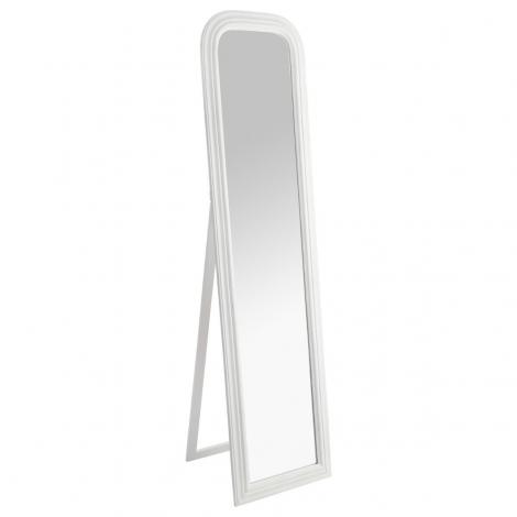 Miroir sur pied cadre pin blanc