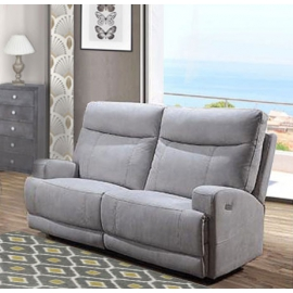 Le canapé 2 places relax électriques en tissu