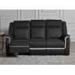 Le canapé 3 places relax électriques en tissu