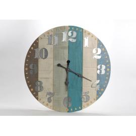 Horloge azur bois