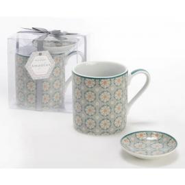 Coffret mug et repose thé