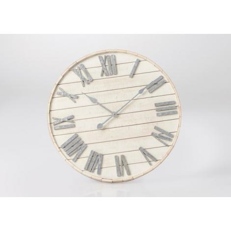 Horloge lames de bois