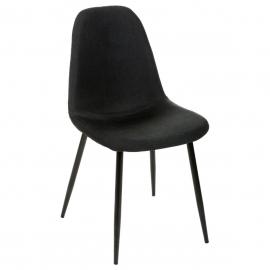 chaise retro chic noire