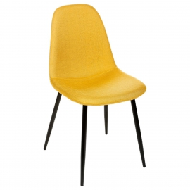 chaise retro chic jaune