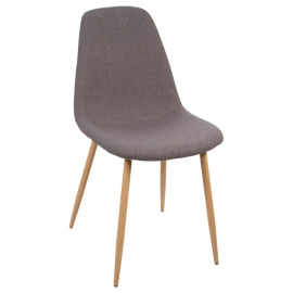 Chaise grise imitation Hêtre