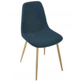 Chaise bleu imitation Hêtre