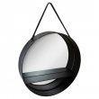 Miroir rond étagère
