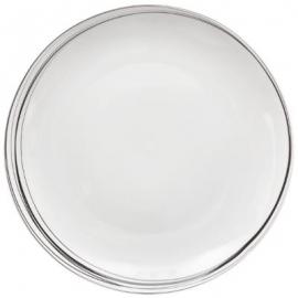 Assiette plate blanche liserets