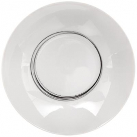 Assiette creuse blanche liserets