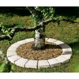 Pavé tour d'arbre ton pierre
