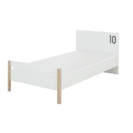 Lit 90x190 Chêne sonoma et blanc