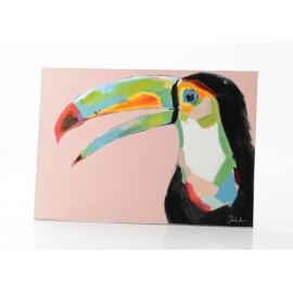 Toile toucan coloré