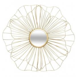 Miroir doré fleur