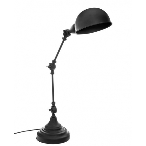 Lampe de bureau métal noir
