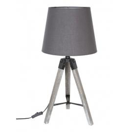 Lampe trépied bois