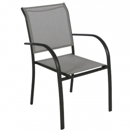 FAUTEUIL PIAZZA GALET /GRAPHITE