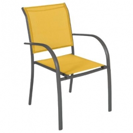 FAUTEUIL PIAZZA MOUTARDE/GRAPHITE