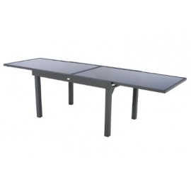 TABLE PIAZZA EXT VERRE GRAPHITE 10P