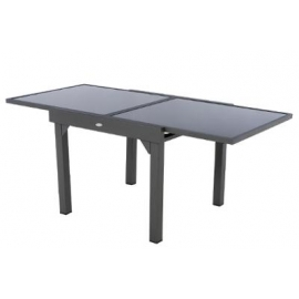 TABLE PIAZZA EXT VERRE GRAPHITE 8P