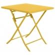 TABLE GREENSBORO CARREE MOUTARDE 2P