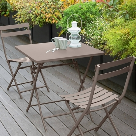 TABLE GREENSBORO CARREE TAUPE 2P