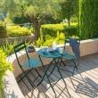 TABLE GREENSBORO RONDE BLEU CANARD 2P